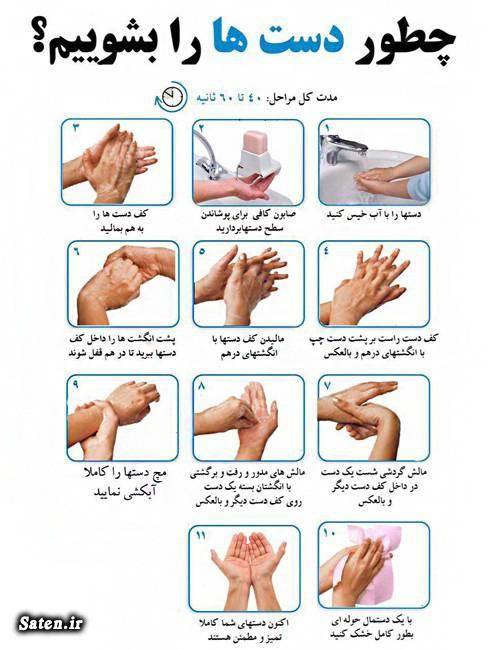 مجله سلامت شستن دست ها روش صحیح شستن دست دستورالعمل شستشوی دستها تحقیق در مورد بهداشت پوستر شستن دستها