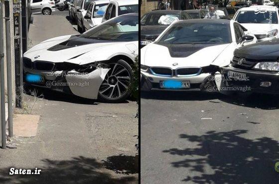 عکس تصادف خودرو تصادف خودرو لوکس تصادف خودرو گرانقیمت تصادف بی ام و اخبار تصادف