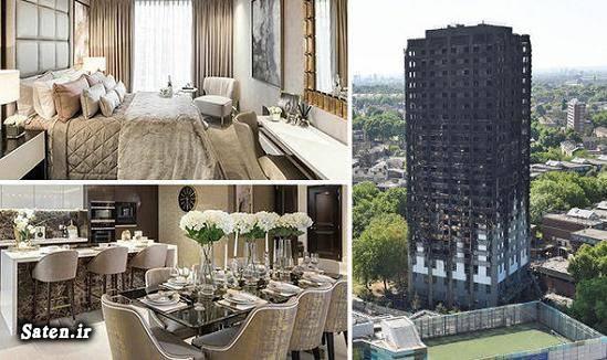 برج گرانفل لندن اخبار لندن آتش سوزی ساختمان پلاسکو آتش سوزی آپارتمان