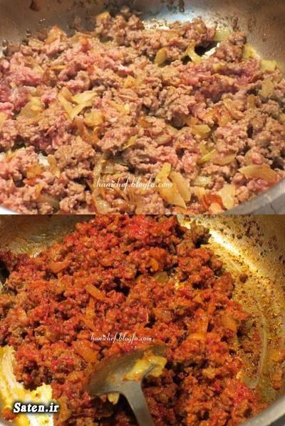 طرز تهیه خورشت بامیه طرز تهیه خورش بامیه با گوشت چرخ کرده خورش بامیه بدون گوشت اموزش انواع خورش آموزش غذای ایرانی آشپزی ساده سریع و آسان