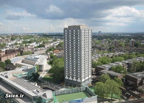 فیلم فروریختن ساختمان گرانفل لندن برج گرانفل لندن اخبار لندن اخبار انگلیس آتش سوزی خانه آتش سوزی آپارتمان Grenfell london