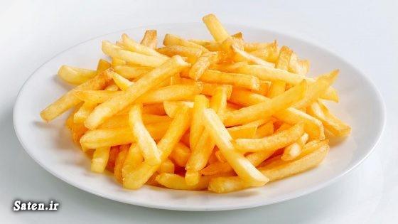 فوت و فن آشپزی طرز تهیه سیب زمینی نیمه آماده سیب زمینی سرخ کرده مک دونالد سیب زمینی سرخ کرده مخصوصfries سیب زمینی سرخ کرده به انگلیسی آشپزی ساده سریع و آسان French fries