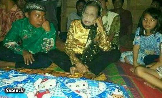 عکس پیرزن عشق کور زن اندونزیایی ازدواج عجیب ازدواج جالب ازدواج با زن بیوه اخبار اندونزی