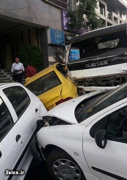 عکس تصادف خودرو تصادف زنجیره ای تصادف جالب اخبار تصادف
