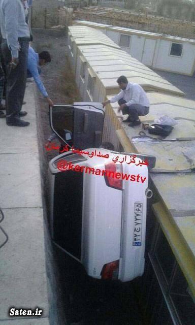 عکس سقوط خودرو حوادث بم تصادف پراید