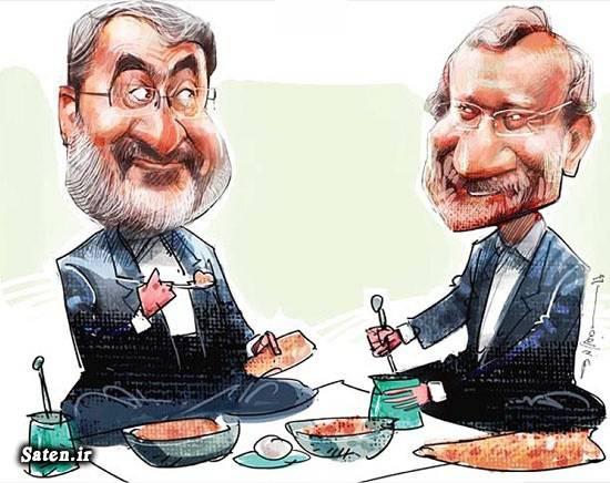 کاریکاتور سیاسی بیوگرافی علی لاریجانی بیوگرافی عبدالرضا رحمانی فضلی