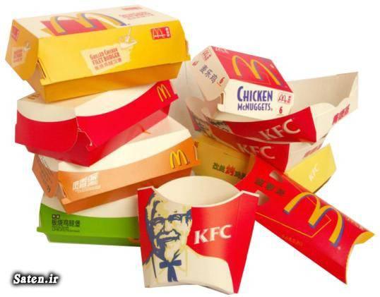 مضرات فست فود مجله سلامت متخصص تغذیه جعبه بسته بندی فست فود