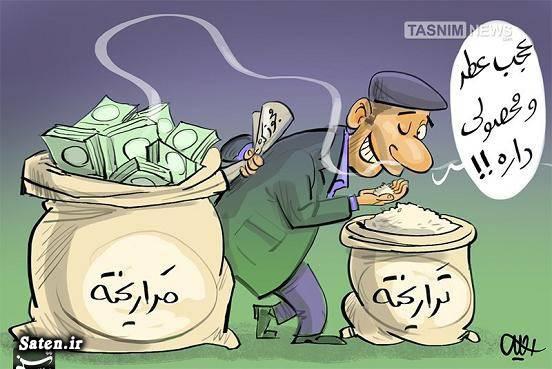 مضرات تراریخته محصولات تراریخته کاریکاتور تراریخته برنج تراریخته