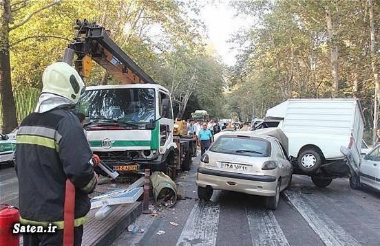 عکس تصادف خودرو حوادث تهران تصادف وحشتناک در ایران تصادف در تهران اخبار تصادف