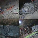 سقوط اتوبوس در دره حوادث تهران چپ کردن اتوبوس اخبار جاجرود