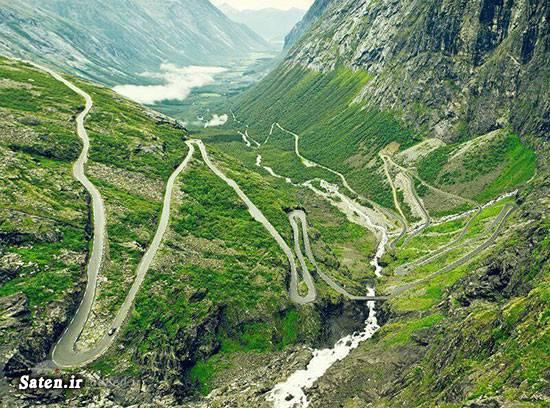 وحشتناک ترین جاده جهان عکس های دیدنی دیدنی ترین نقاط جهان خطرناک ترین جاده جهان جاهای دیدنی جهان جاده یونگاس جاده مرگ در آمریکا جاده مرگ جاده ترولستیگن جاده ای که از وسط دریا میگذرد جاده اقیانوس اطلس در نروژ توریستی نروژ تصاویر دیدنی بولیوی آلاسکا
