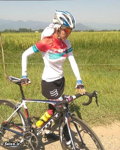 ورزش بانوان همسر ماندانا دهقان دختر لژیونر ایرانی دختر دوچرخه سوار بیوگرافی ماندانا دهقان بیوگرافی لژیونر ها mandana dehghan