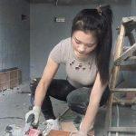 کارگر ساختمانی کارکردن زن در بیرون از خانه عکس دختر زیبا زنان فیلیپین زنان در خارج دختر فیلیپینی دختر زیبا اخبار فیلیپین آزادی زنان در غرب