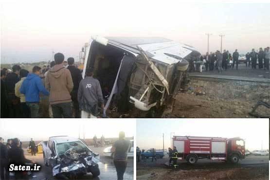 حوادث کرج حوادث اهواز اسامی کشته شدگان اردوی دانش آموزی اخبار کرج اخبار سوسنگرد اخبار خوزستان اخبار تصادف