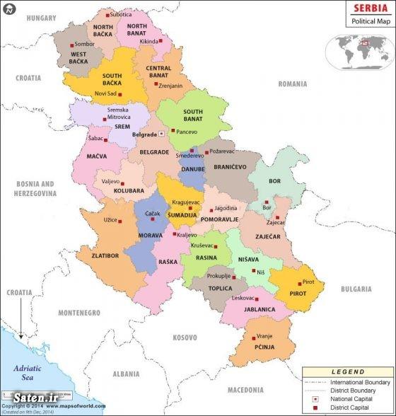 نقشه کشور صربستان کشورهای همسایه صربستان صربستان کجاست سفر به صربستان راهنمای سفر دیدنی های بلگراد جاهای دیدنی بلگراد تور بلگراد بلگراد صربستان Beograd