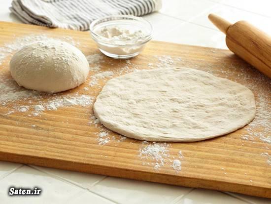 مواد لازم خمیر پیتزا فوت و فن آشپزی طرز تهیه خمیر پیتزا فوری طرز تهیه پیتزا بهترین سایت آشپزی آموزش درست کردن پیتزا آشپزی ساده سریع و آسان