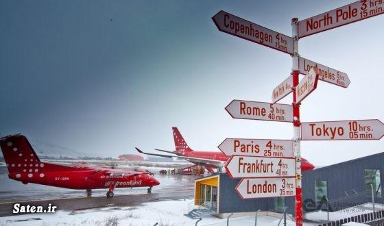 مناطق توریستی دانمارک گرینلند در کدام قاره است فرودگاه های جهان سفر به گرینلند زندگی در گرینلند جاهای دیدنی جهان تصاویر دیدنی جهان Greenland