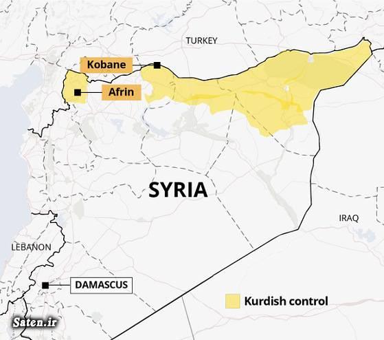 نقشه عفرین سوریه نقشه سوریه کردهای سوریه عفرین سوریه کجاست حامیان تروریست جنگ عفرین جنایات ترکیه جنایات آمریکا تروریستهای ارتش آزاد اخبار سوریه Afrin Syria