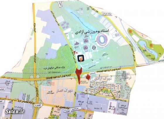 ورزشگاه آزادی نقشه تهران مسیر مترو ورزشگاه آزادی مترو تهران درب شرقی ورزشگاه آزادی تهرانگردی اخبار تهران