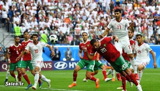 همسر فوتبالیستها فوتبال ایران و مراکش دختر مراکشی بیوگرافی عزیز بوهادوز بازیکنان تیم ملی فوتبال مراکش Aziz Bouhaddouz