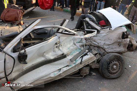 تصادف زنجیرهای مرگبار در بلوار آیتالله هاشمی رفسنجانی +عکس