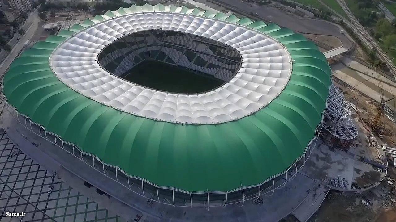 مدرن ترین استادیوم ها مجهزترین ورزشگاه ها عکس ورزشی جدید عکس فوتبالی جدید زیباترین ورزشگاه فوتبال جهان پروژه های بزرگ جهان بزرگترین پروژه های ساختمانی استادیوم های جهان اخبار فوتبال خارجی اخبار ترکبه ابر سازه های جهان bursaspor timsah arena