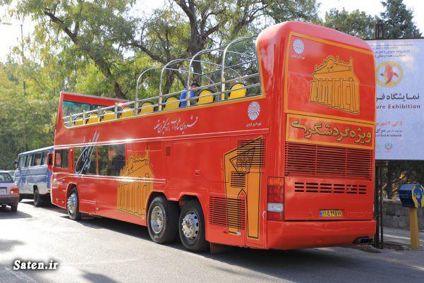 اتوبوس گردشگری در قزوین +عکس