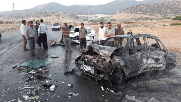 عکس تصادف مرگبار عکس تصادف دلخراش حوادث یاسوج تصادف وحشتناک در ایران اخبار یاسوج اخبار کردستان اخبار تصادف