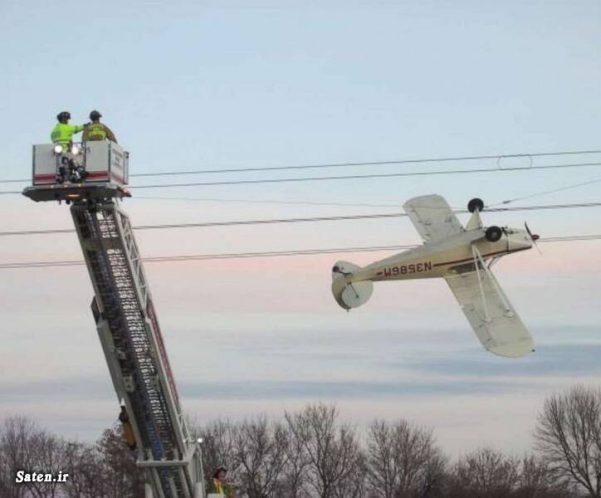 عکس سقوط هواپیما اخبار آمریکا